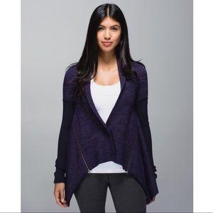 Lululemon Wrap It Up Merino Wool Purple Sweater